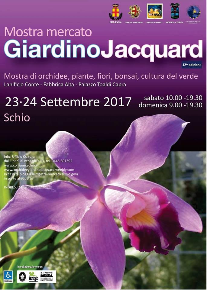 Orchidee giardino jacquard schio giulio celandroni for Mostre mercato fiori 2017